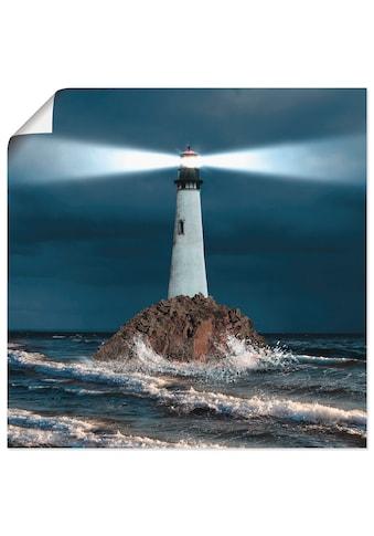 Artland Wandbild »Bild von Leuchtturm mit Lichtstrahl« kaufen