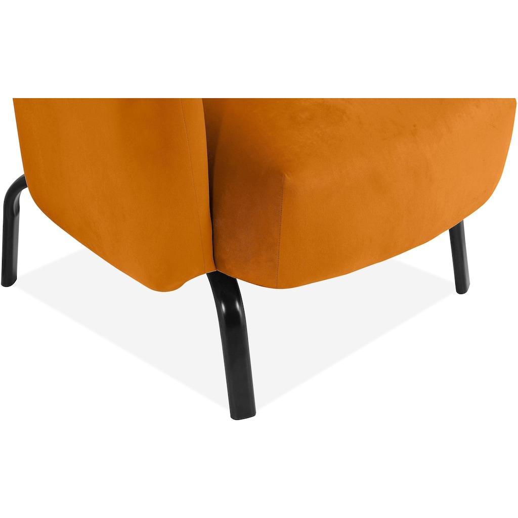 andas Loungesessel »Maribo«, aus einem schönen, weichen Velvetstoff, Design by Morten Georgsen