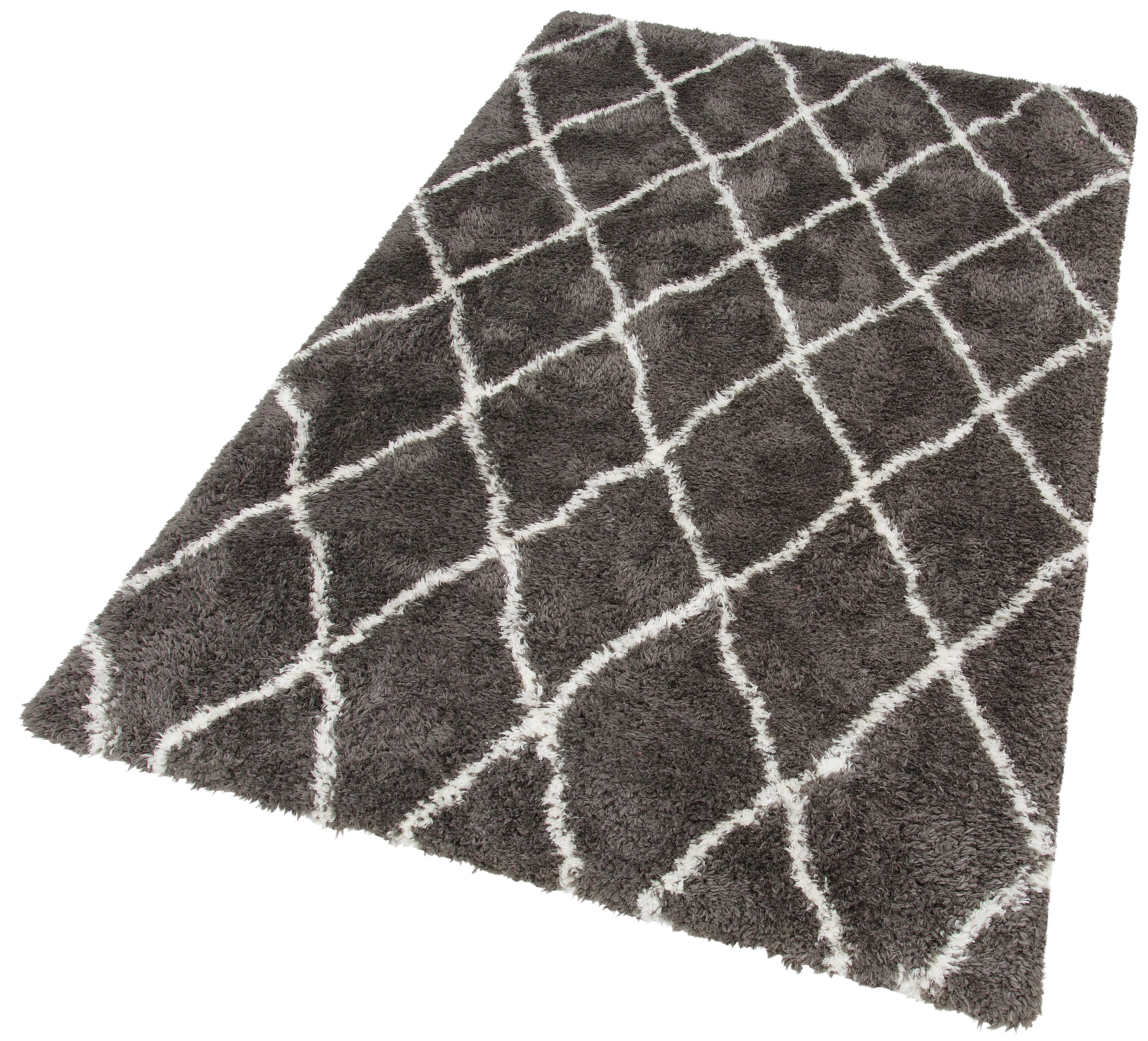 Hochflor-Teppich Floki 80075 merinos rechteckig Höhe 70 mm maschinell gewebt