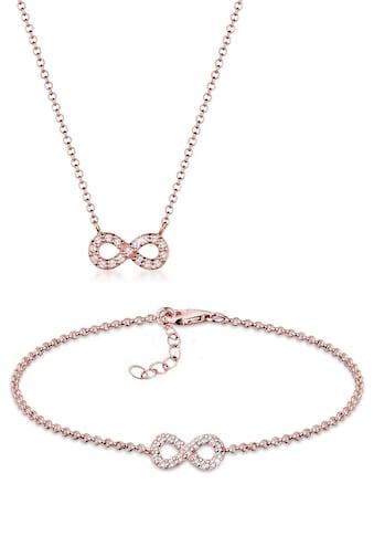 Elli Schmuckset »Infinity Kristalle 925 Silber« kaufen