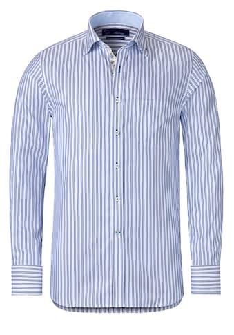 East Club London Langarmhemd in tollem Streifen-Design kaufen