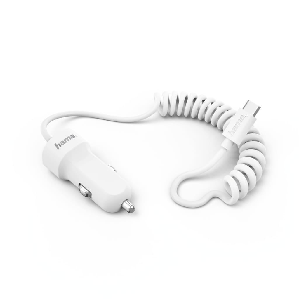 Hama Kfz-Ladegerät, USB Type-C, 3 A, Weiß