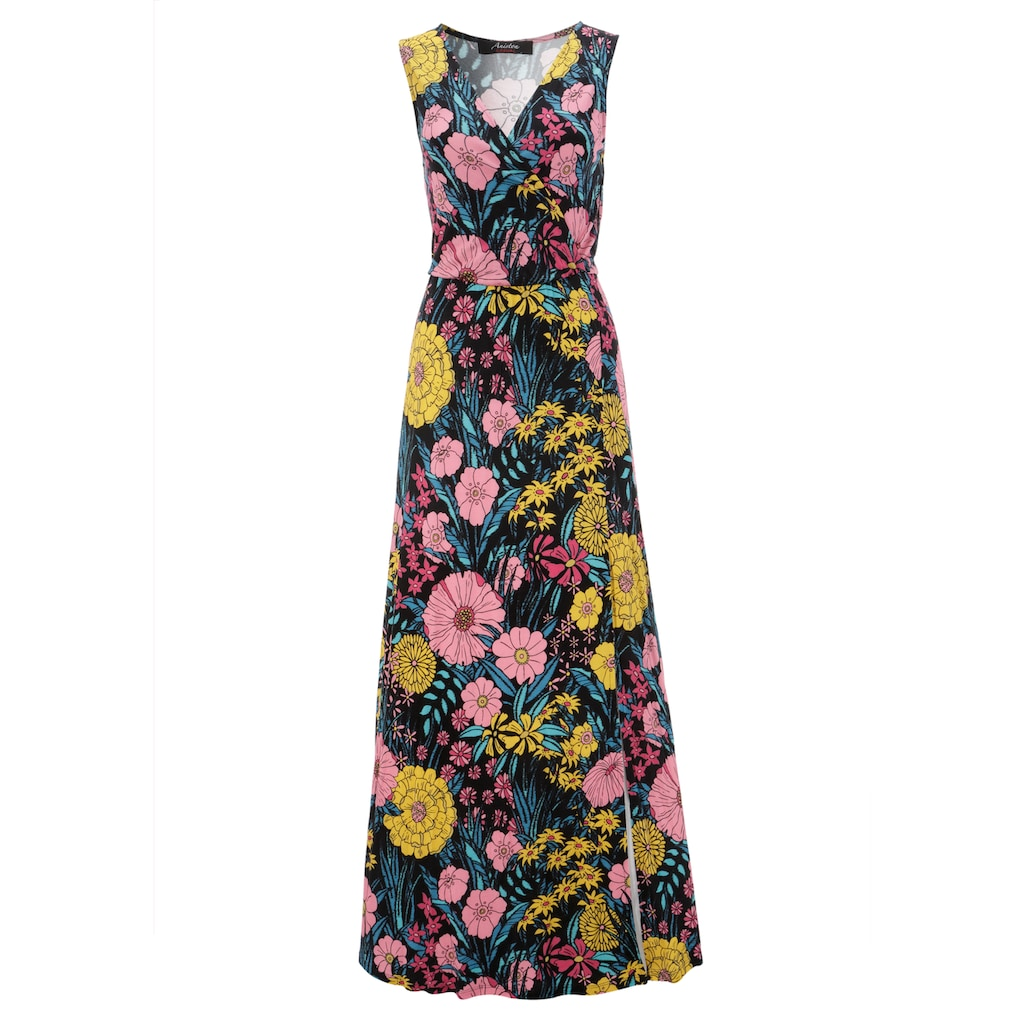 Aniston CASUAL Maxikleid, mit farbintensivem Blumendruck - NEUE KOLLEKTION