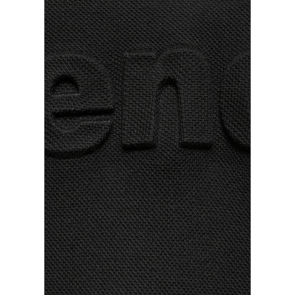 Bench. Sweatkleid, aus Piqué mit 3D-Logoschriftzug