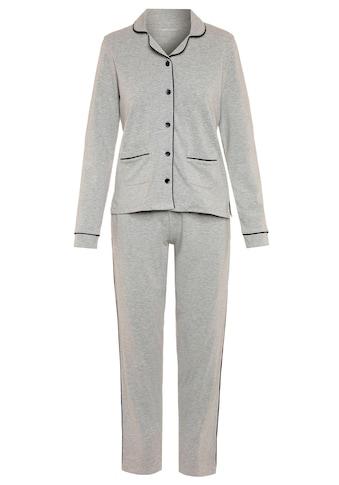 seidensticker Pyjama, mit Kontrastpaspel-Details kaufen