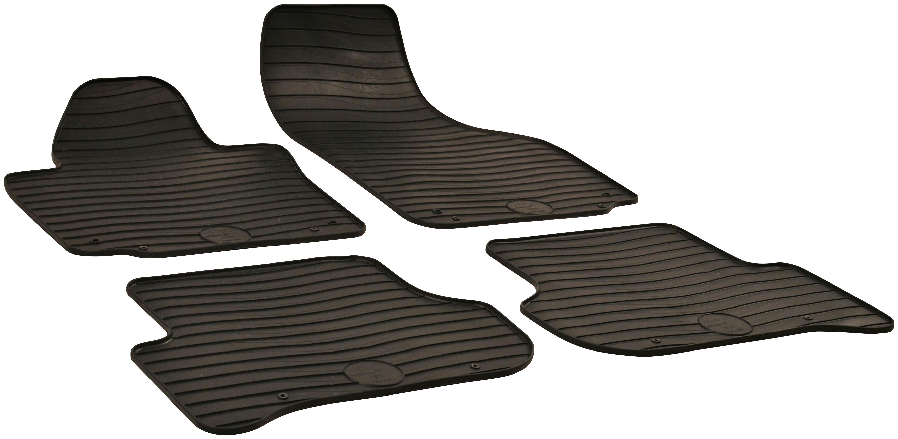 WALSER Passform-Fußmatten, Skoda, Yeti, Geländewagen, (4 St., 2 Vordermatten, Rückmatten), für Skoda Yeti BJ 2009 - heute schwarz Automatten Autozubehör Reifen Passform-Fußmatten