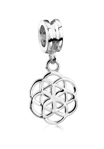 Nenalina Charm-Einhänger »Anhänger Bead Blume des Lebens Ornament 925 Silber« kaufen