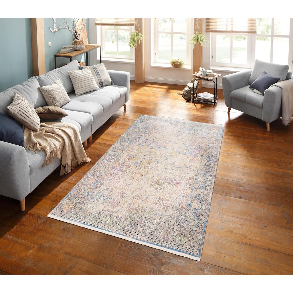 merinos Teppich »Colorful 24030«, rechteckig, 7 mm Höhe, Wohnzimmer