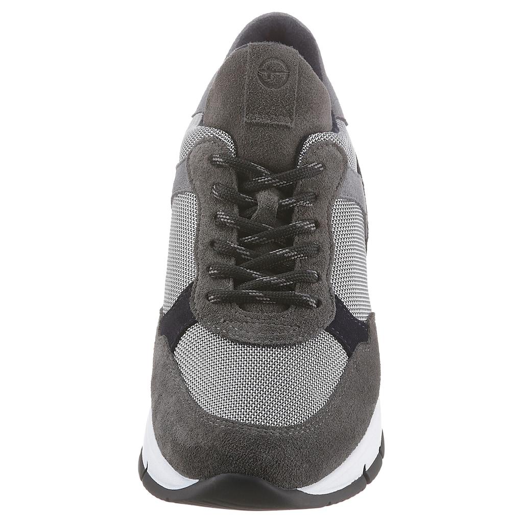 Tamaris Wedgesneaker »Elle«, mit Wechselfußbett