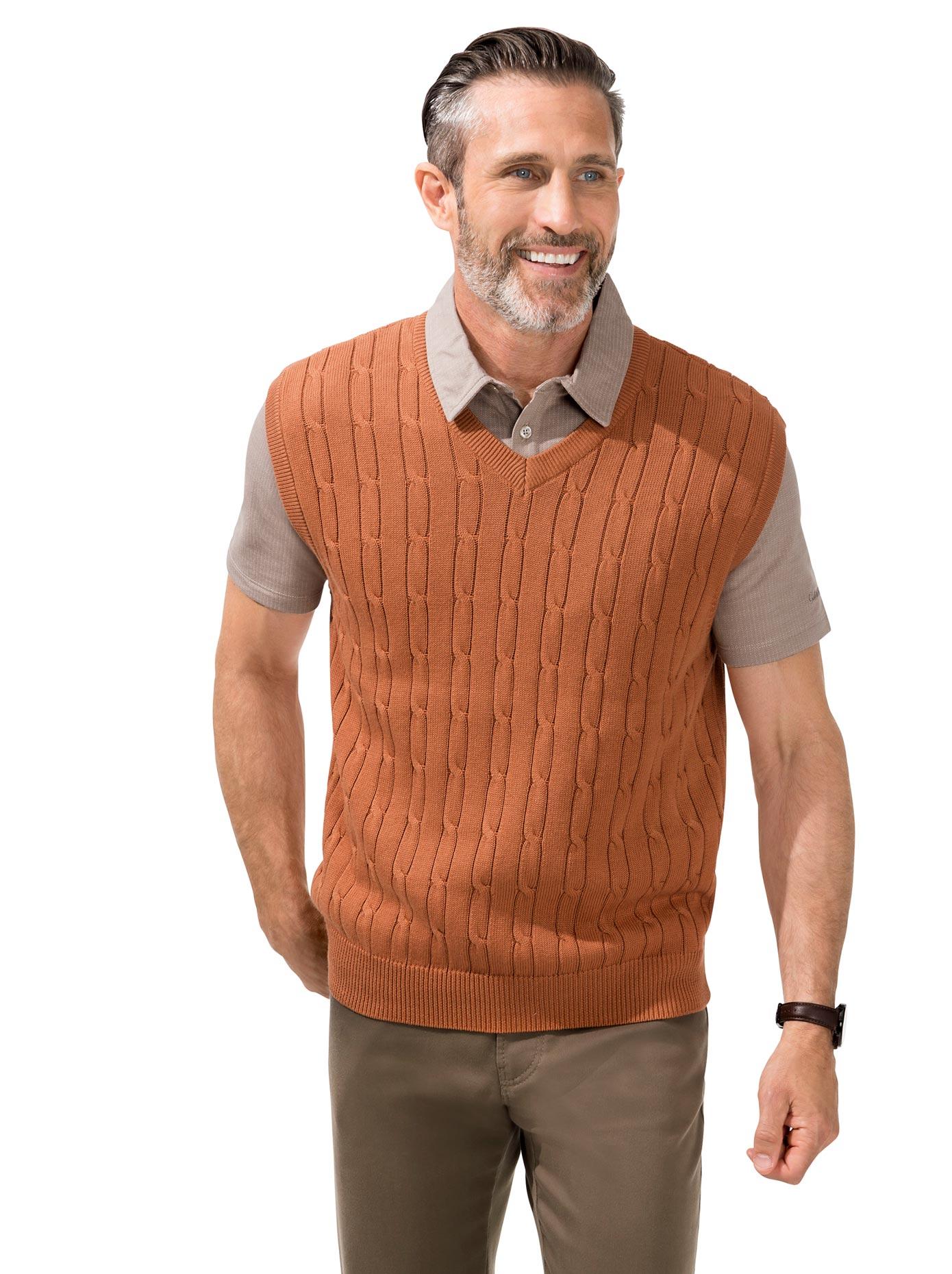 Marco Donati Pullunder aus reiner Baumwolle | Bekleidung > Pullover > Pullunder | Catamaran