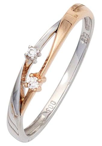 JOBO Diamantring, 585 Gold bicolor mit 2 Diamanten kaufen