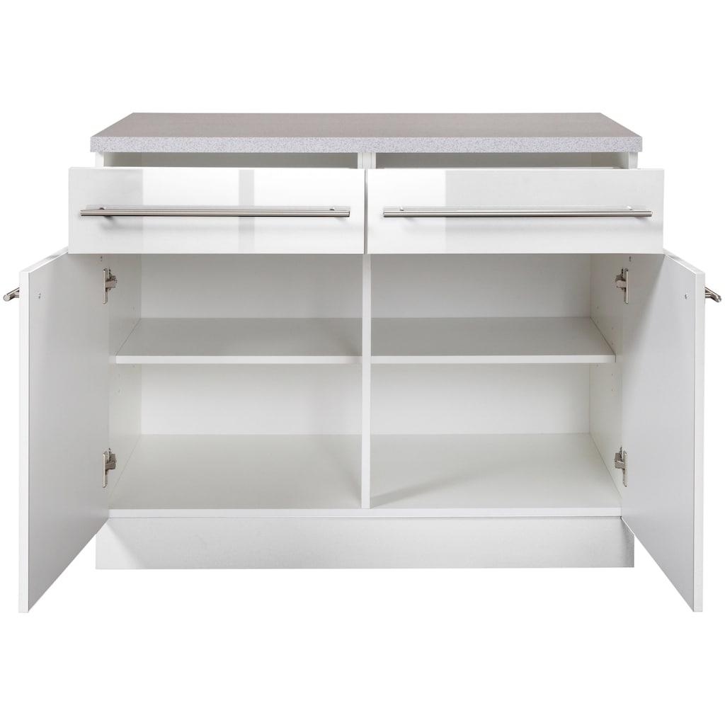 wiho Küchen Unterschrank »Chicago«, 100 cm breit, 2 Schubkästen und 2 Türen, für viel Stauraum