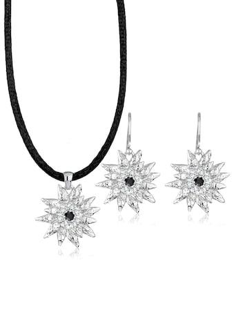 Elli Schmuckset »Edelweiss Swarovski® Kristalle Silber« kaufen