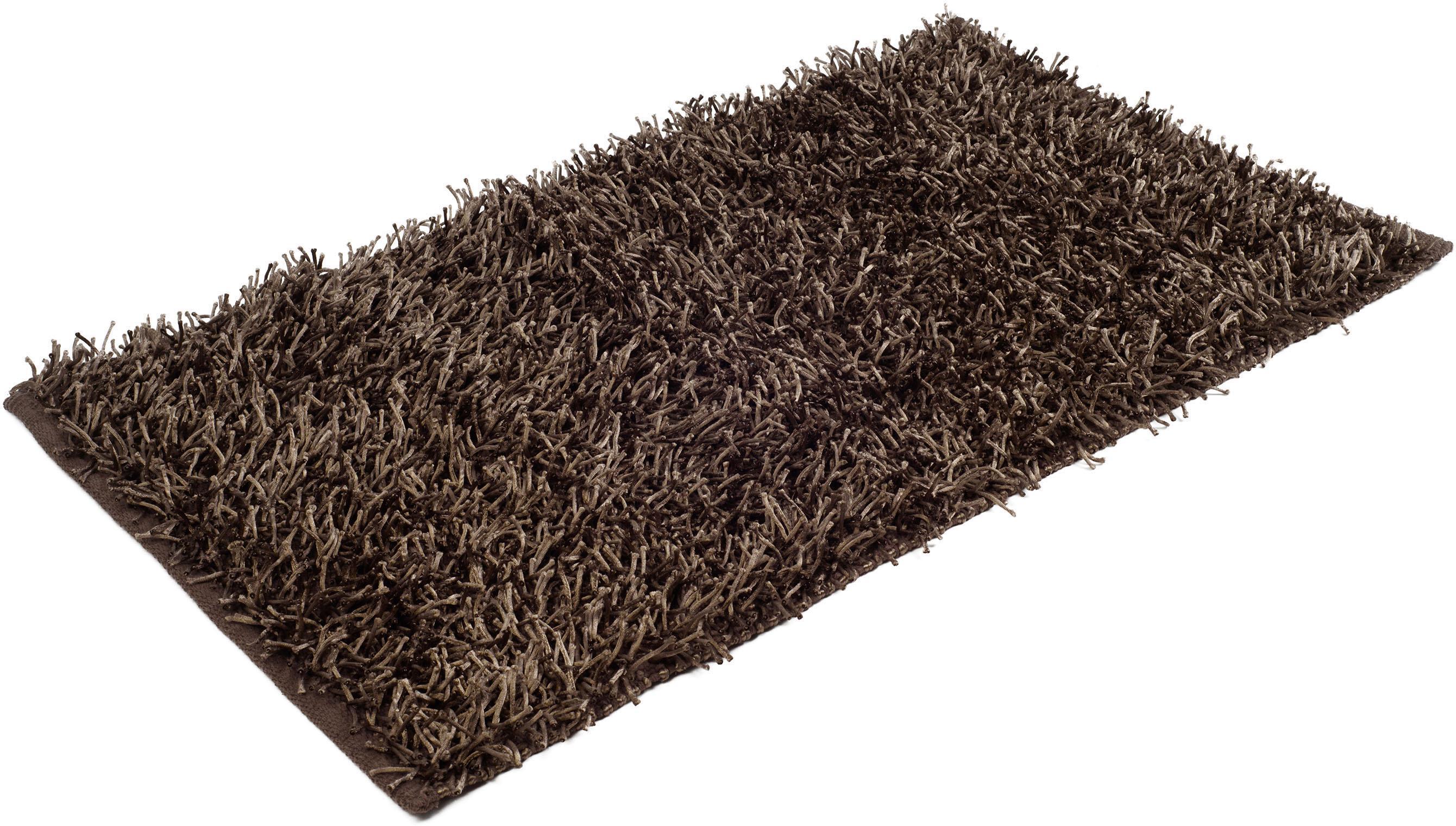 Badematte Shaggy Uni Gözze Höhe 50 mm rutschhemmend beschichtet fußbodenheizungsgeeignet