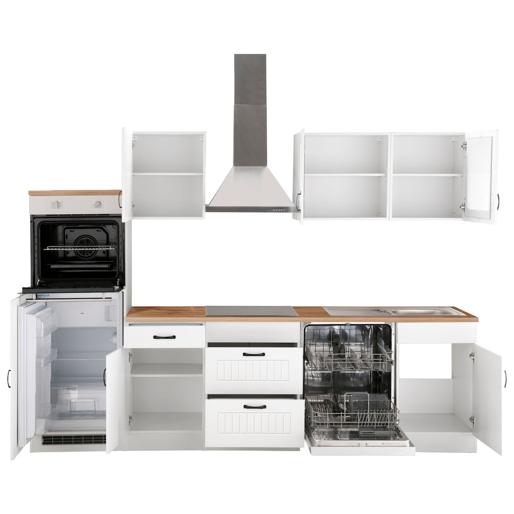 HELD MÖBEL Küchenzeile »Athen«, mit E-Geräten, Breite 280 cm