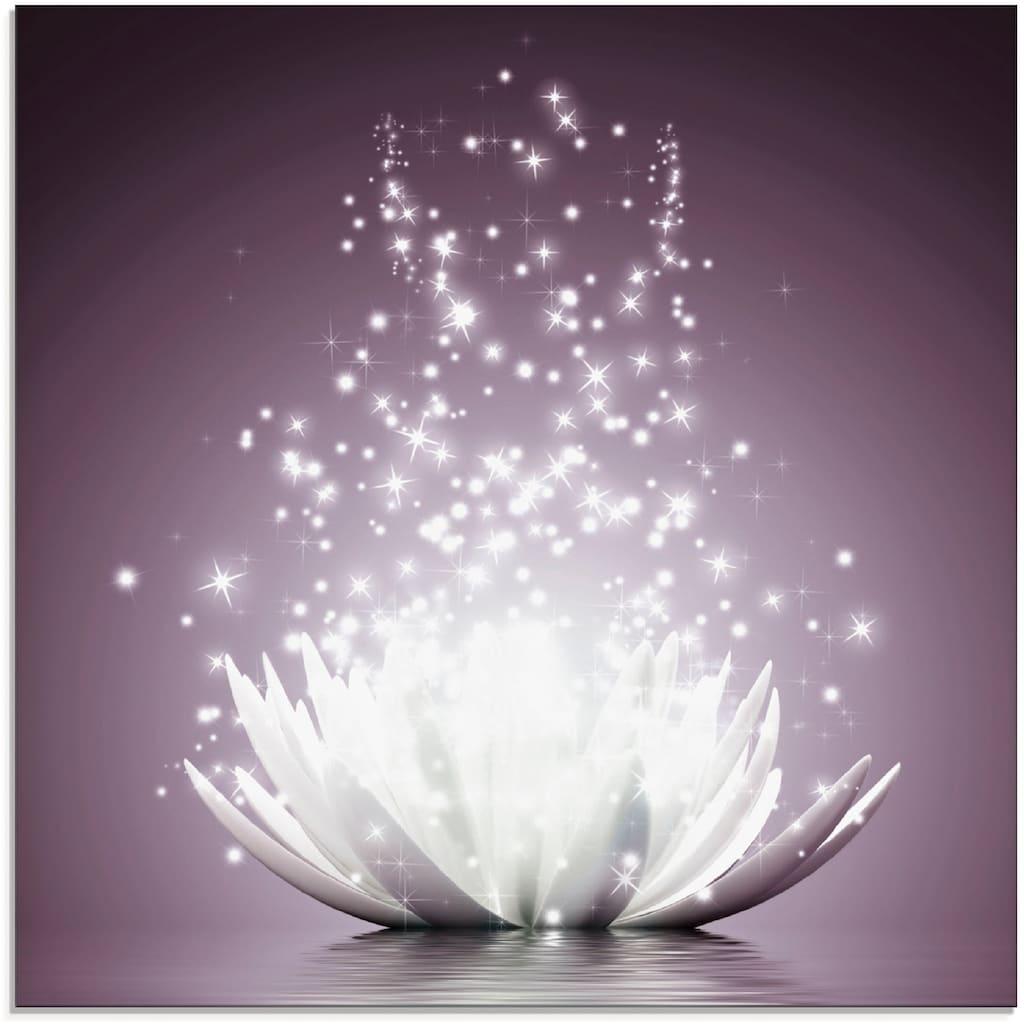 Artland Glasbild »Magie der Lotus-Blume«, Blumen, (1 St.)