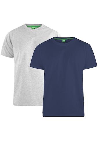 Duke Clothing T-Shirt »Herren Fenton D555, Kingsize, Rundhalsausschnitt, 2er-Packung« kaufen