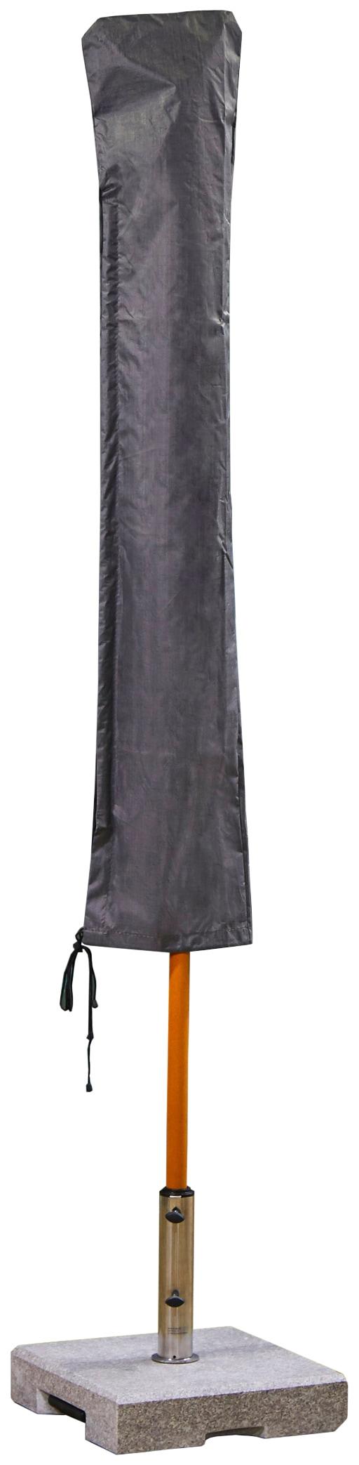 winza outdoor covers Sonnenschirm-Schutzhülle, geeignet für Schirme bis ø 500 cm grau Sonnenschirm-Schutzhülle Gartenmöbel-Schutzhüllen Gartenmöbel Gartendeko