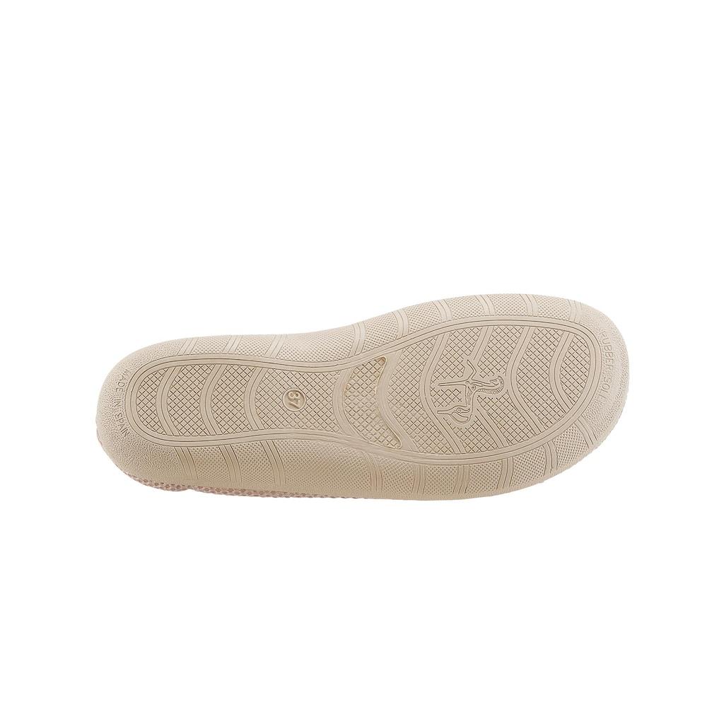 Classic Hausschuh mit rutschhemmender Gummi-Laufsohle