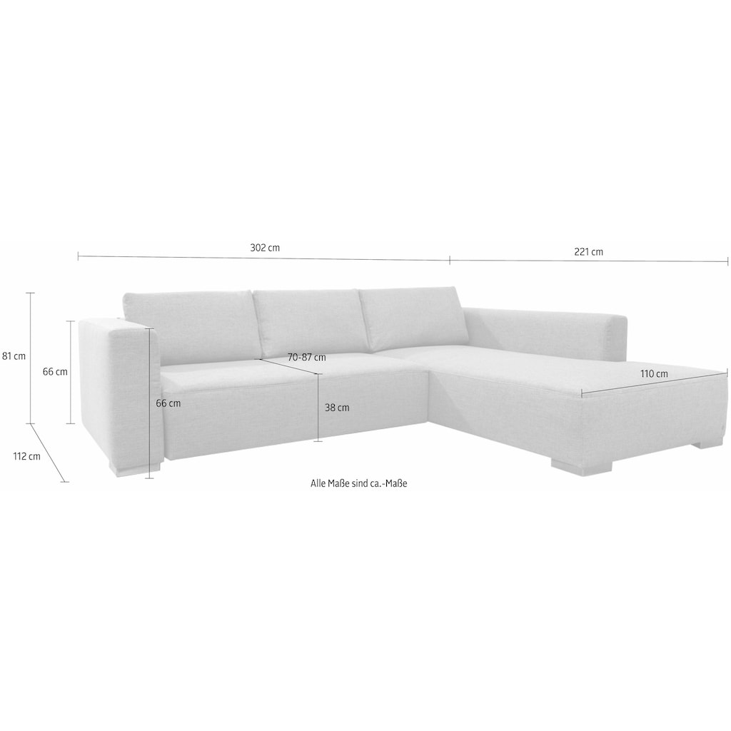 TOM TAILOR Ecksofa »HEAVEN STYLE XL«, aus der COLORS COLLECTION, wahlweise mit Bettfunktion & Bettkasten