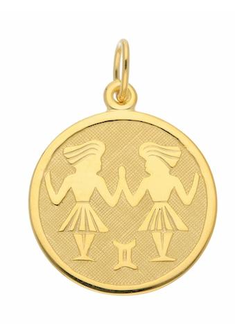 Adelia´s Kettenanhänger »333 Gold Sternzeichen Anhänger Zwilling Ø 16 mm« kaufen