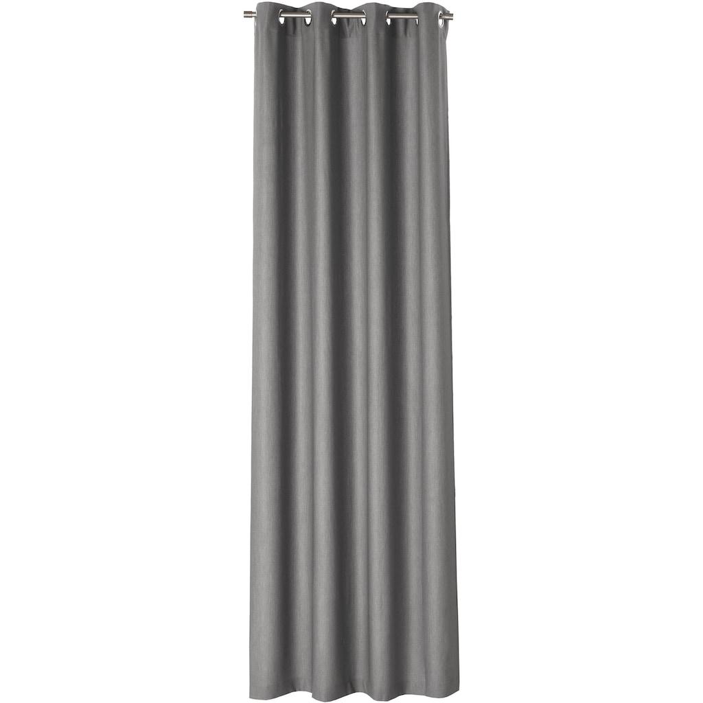 170QM Vorhang nach Maß »Kent«, Ösenschal mit Metallösen
