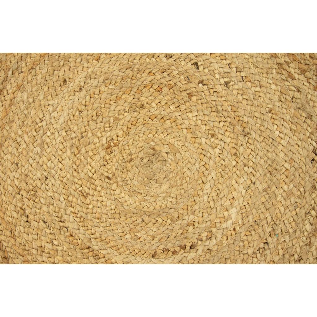 morgenland Teppich »Sisalteppich Teppich Indigo«, rund, 7 mm Höhe, Wohnzimmer