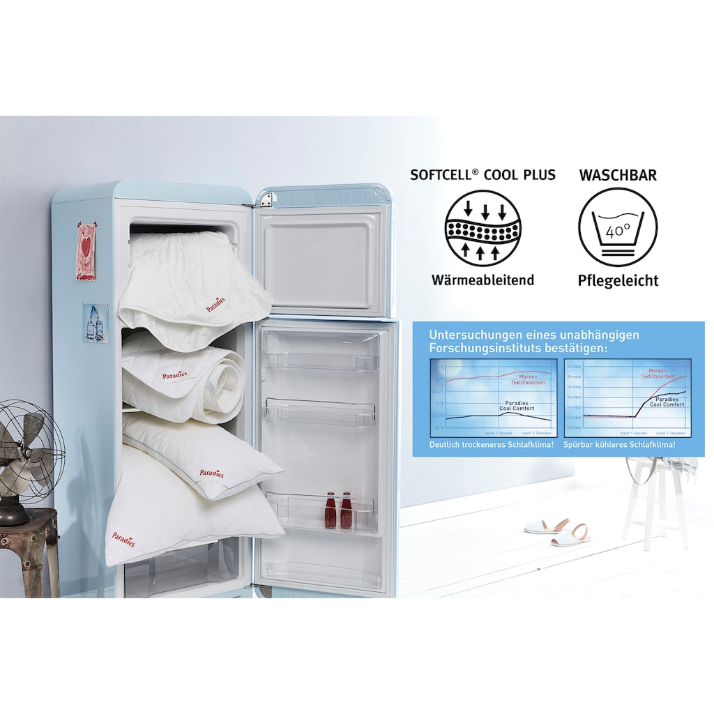 Paradies Baumwollbettdecke »Cool Comfort Bio sommerleicht«, extraleicht, (1 St.)