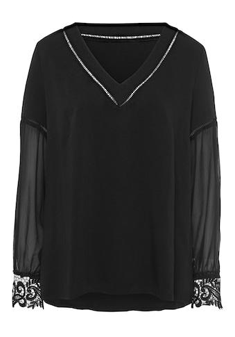 Creation L Bluse mit weiten transparenten Ärmel kaufen