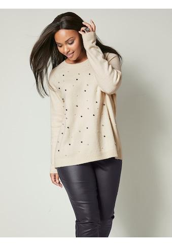 Angel of Style by HAPPYsize Pullover mit Perlen kaufen