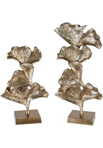 GILDE Dekoobjekt »Skulptur Ginkgo, goldfarben«, aus Metall, in 2 Größen erhältlich,... kaufen