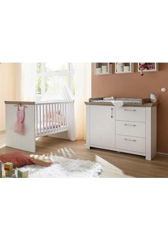 Babymöbel-Set »Stralsund«, (Spar-Set, 2 St.), Bett + Wickelkommode kaufen