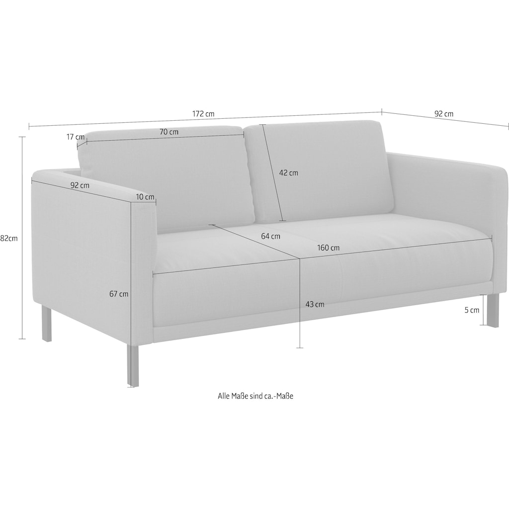 machalke® 2-Sitzer »slender«