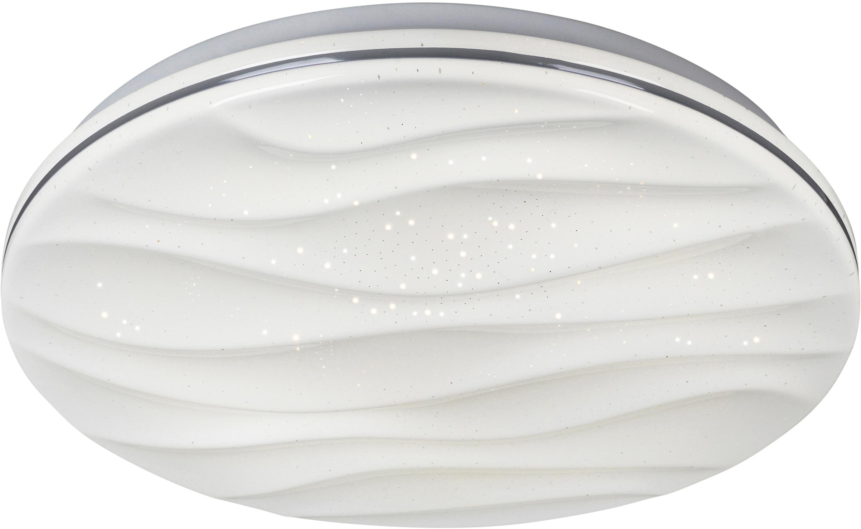 näve LED Deckenleuchte Austin, LED-Board, Kaltweiß-Neutralweiß-Warmweiß, Sternenhimmel, Deckenlampe Ø 38 cm, tuya Smart Home, Farbtemperatursteuerung CCT 3000 - 6000 K