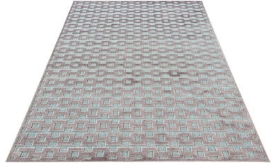 MINT RUGS Teppich »Bouton«, rechteckig, 4 mm Höhe, Hoch-Tief-Effekt, Wohnzimmer kaufen