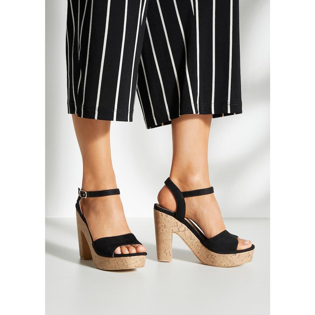 LASCANA High-Heel-Sandalette, mit Blockabsatz