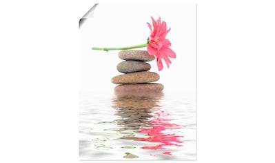 Artland Wandbild »Zen Spa Steine mit Blumen I«, Zen, (1 St.), in vielen Größen &... kaufen