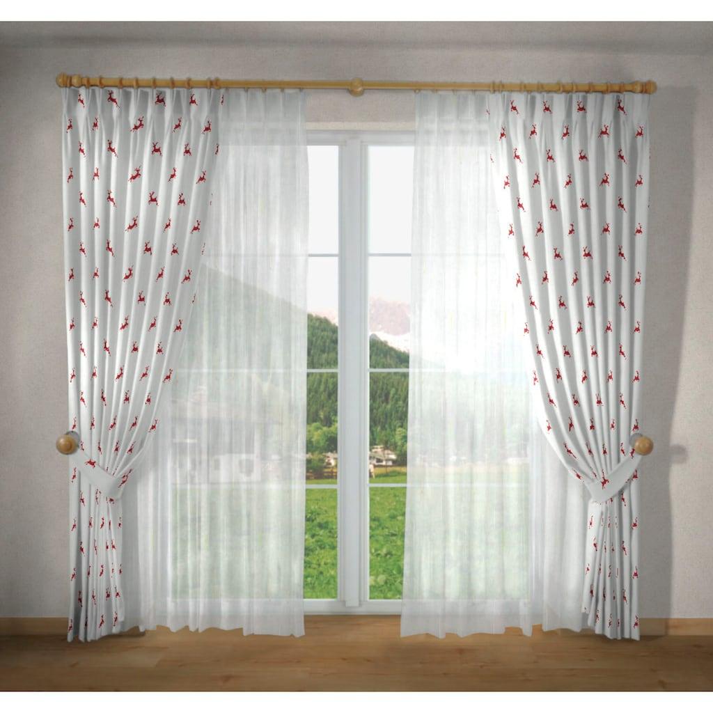 VHG Vorhang nach Maß »Hans Hirsch«, Leinenoptik, Breite 150 cm