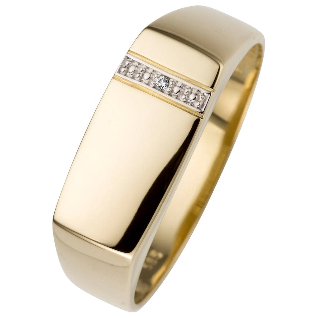 JOBO Fingerring, 585 Gold mit Diamant