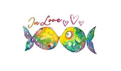 Wall-Art Wandtattoo »Lebensfreude - Verliebte Fische« kaufen