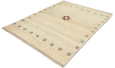 morgenland Wollteppich »Gabbeh Teppich handgeknüpft beige«, rechteckig, 18 mm Höhe,... kaufen