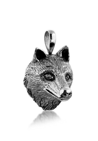 Kuzzoi Kettenanhänger »Herren Wolfkopf Kettenanhänger Robust 925 Silber« kaufen