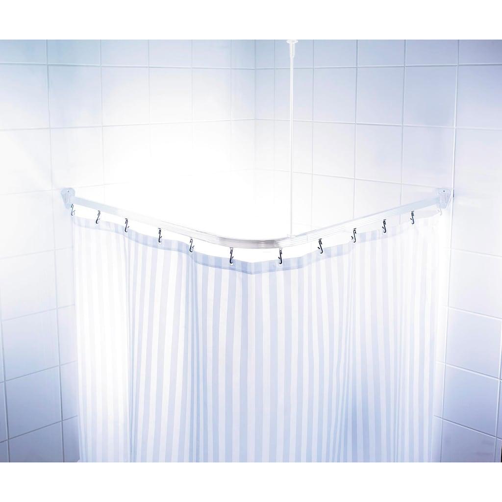 Ridder Vorhangschiene »Comfort«, kürzbar, Eckstange für Duschvorhänge, Länge 90 cm