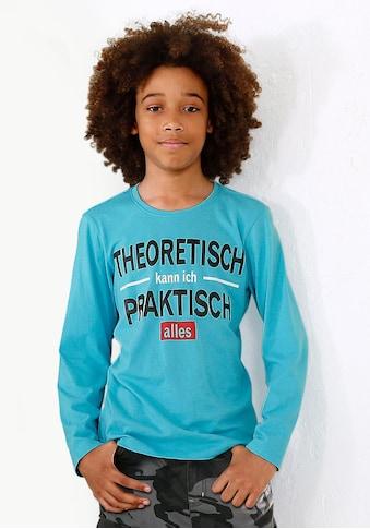 Arizona Langarmshirt »Theoretisch kann ich praktisch alles« kaufen