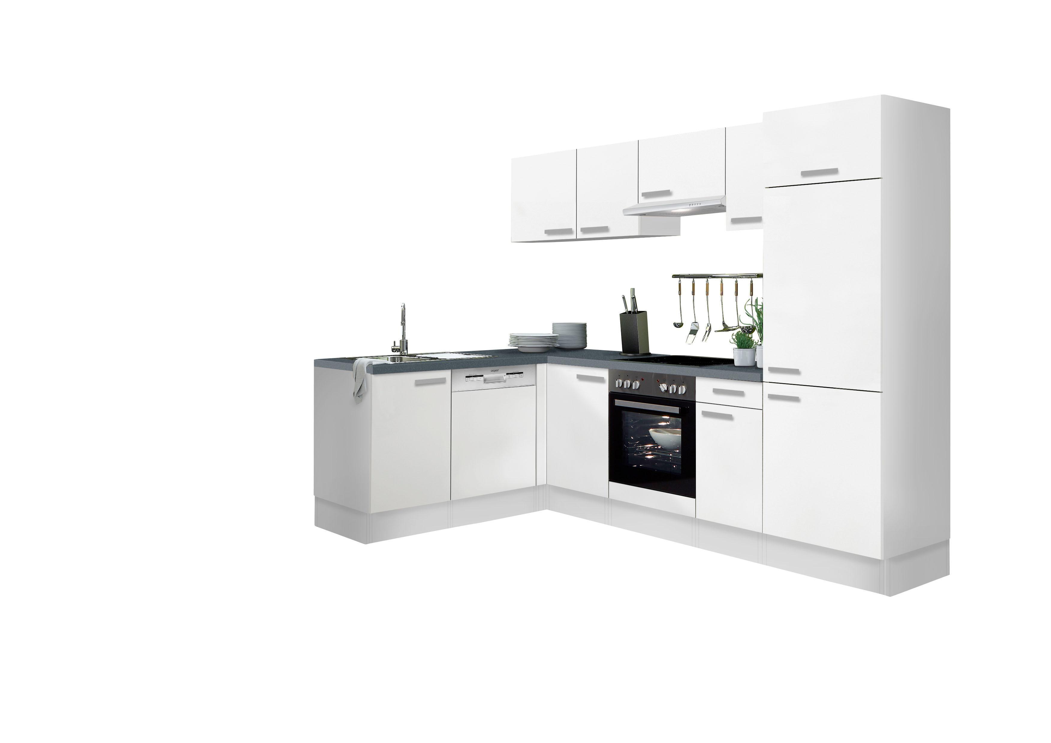 Optifit Winkelküche mit E-Geräten Odense Stellbreite 275 x 175 cm Preisvergleich