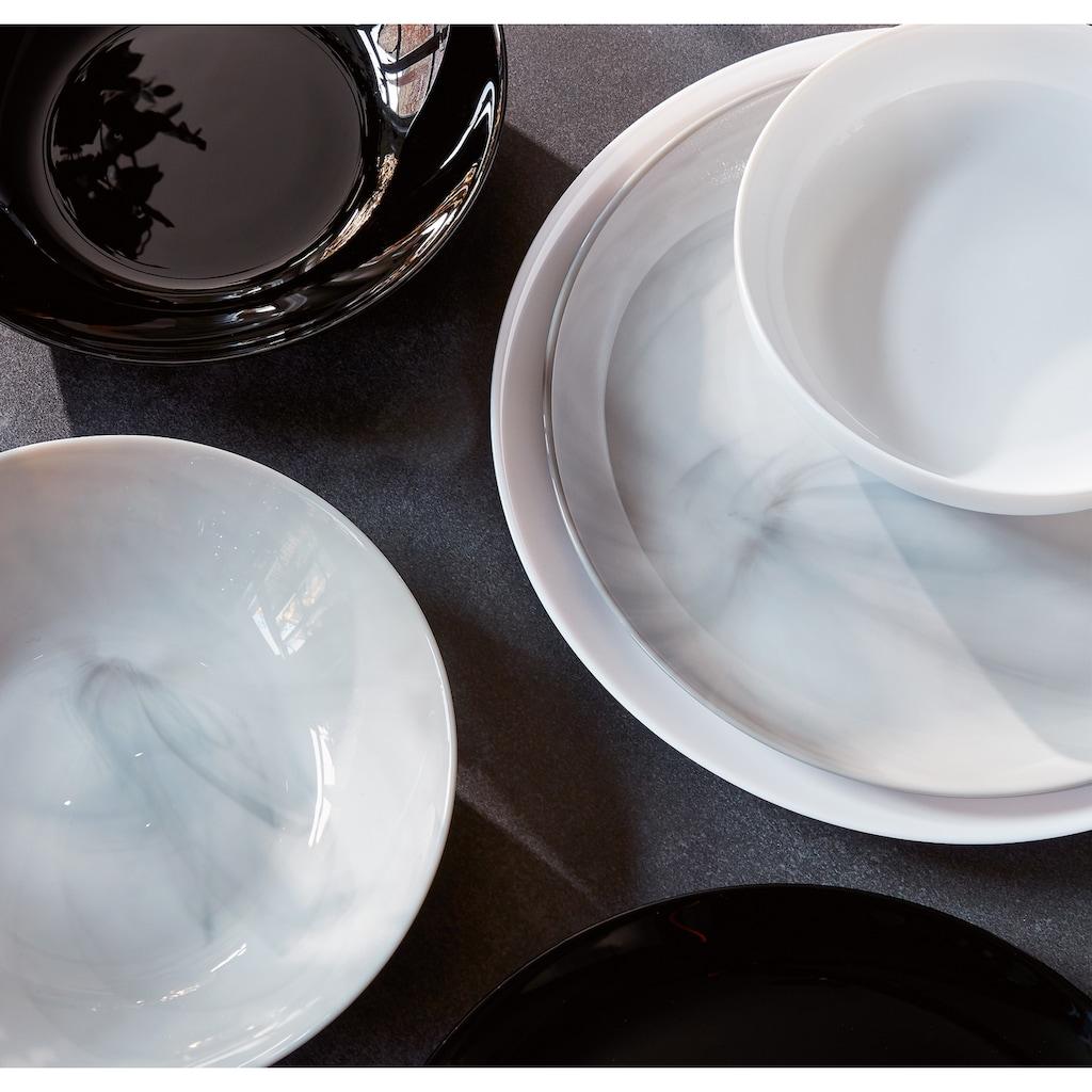 CreaTable Tafelservice »Marmor«, (Set, 18 tlg.), mit natürlicher Marmorstruktur