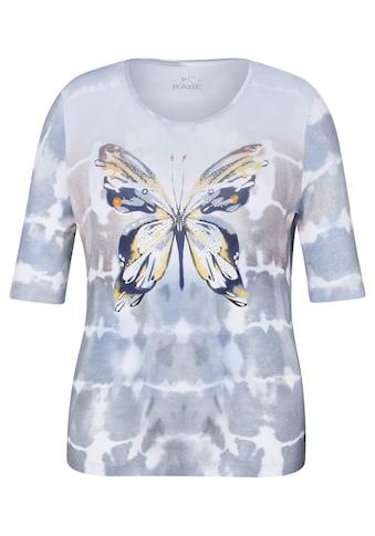 Rabe T - Shirt mit Schmetterlings - Print und Zierperlen kaufen