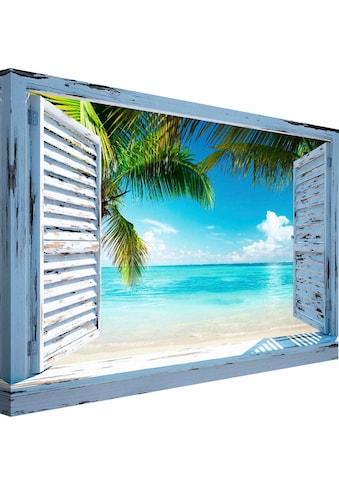 Reinders! Wandbild »Strandfenster« kaufen