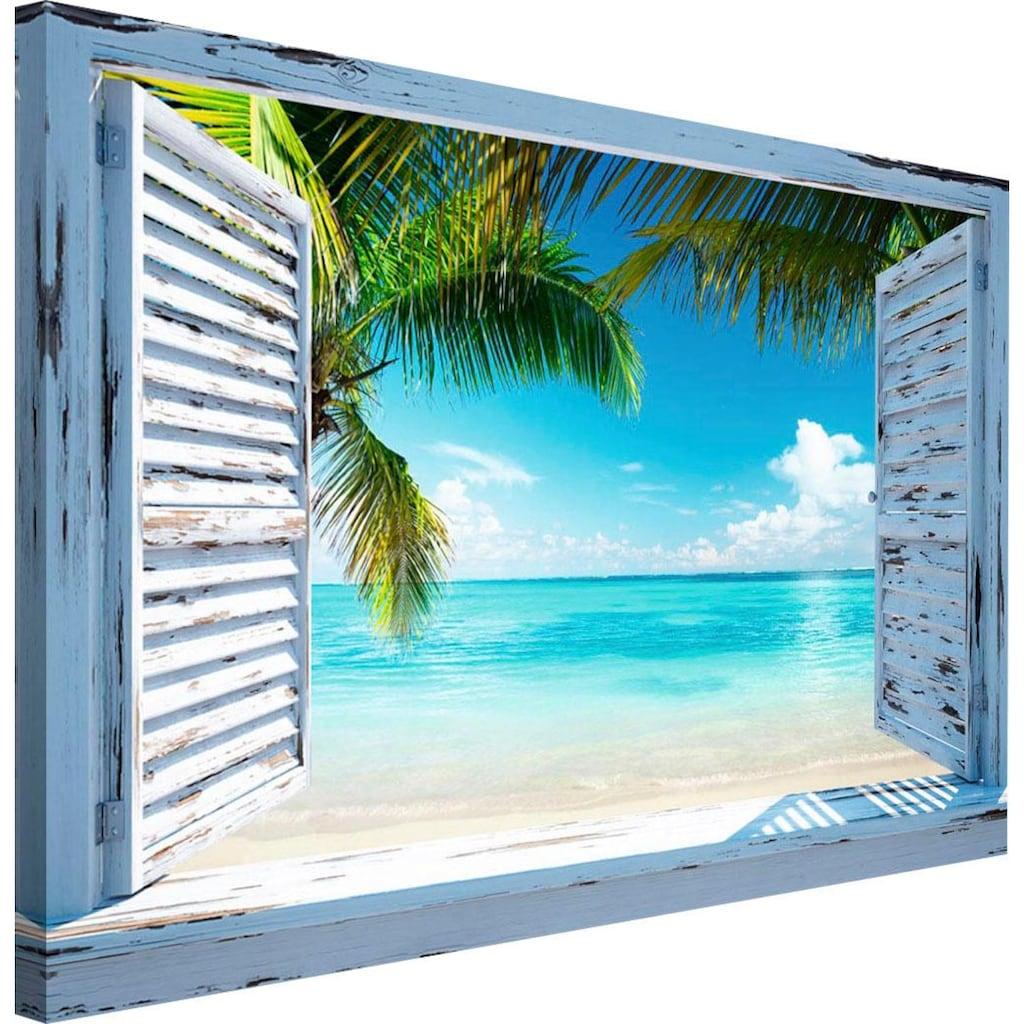 Reinders! Wandbild »Strandfenster«