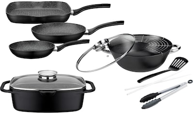 GSW Topf-Set »Gourmet Granit«, Aluminiumguss, (Set, 7 tlg., (3 Pfannen, 1 Bräter, 1... kaufen